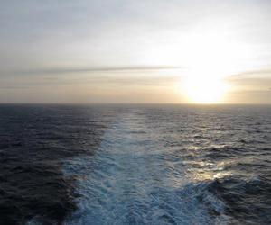 cruise, travel, and sunsent image