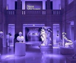 purple, aesthetic, and statue image
