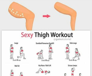 healthy, workout, and thigh image
