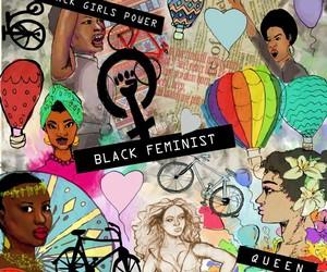 black, black girl power, and feminst image