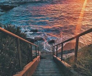 beach, coast, and heart image