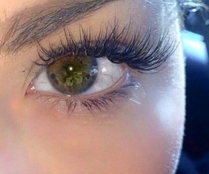 green eyes and lashes image