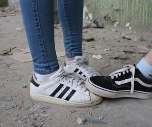 adidas, couple, and vans image