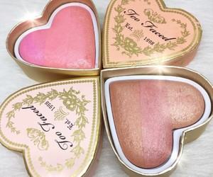 makeup, blush, and too faced image