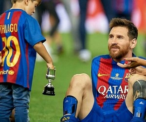 Barca, Barcelona, and leo messi image