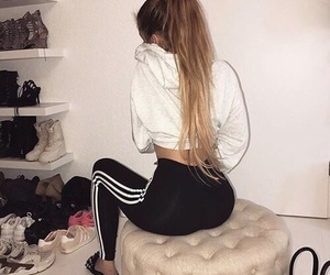 adidas, goals, and long hair image