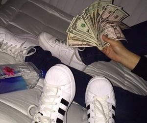 money, adidas, and nike image