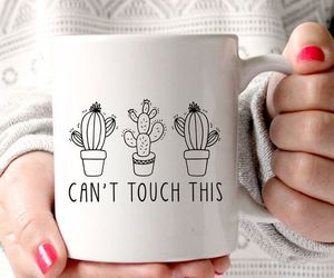 cactus, cup, and coffee image