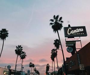 sunset, sky, and california image