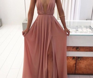 chic, dress, and pink image
