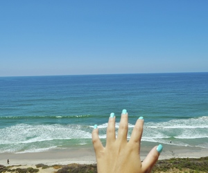 beach, blue, and nails image