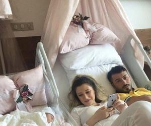 baby, family, and newborn image