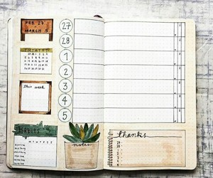 notebook, notes, and planner image