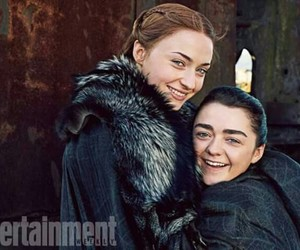 game of thrones, sophie turner, and maisie williams image