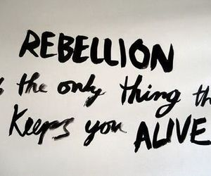 rebellion, quotes, and alive image
