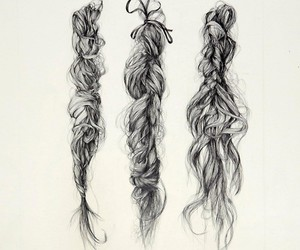hair, art, and braid image