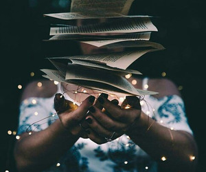 book, light, and magic image