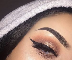 eyebrows, girl, and makeup image