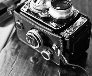 black and white, camera, and wallpaper image