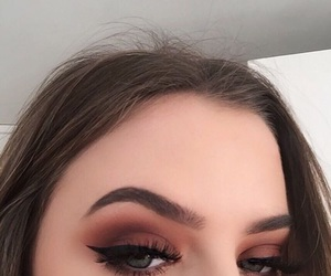 makeup, beauty, and brows image