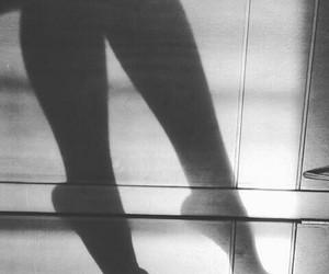 b&w, shadow, and legs image