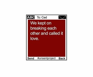 breaking, heartbreak, and quote image