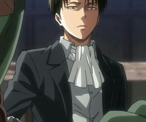 anime, levi, and snk image