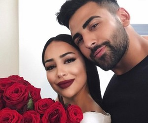 couple and flowers image