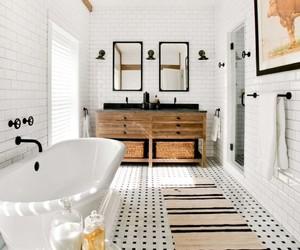 bathroom, farmhouse, and inspiring interiors image