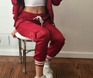 body, fashion, and red image