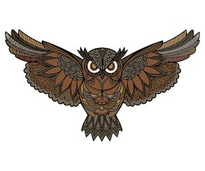 owl and mandala image