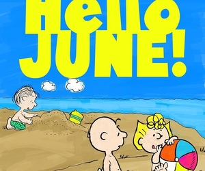 charlie brown, hello, and june image