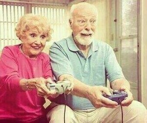 beautiful, couple, and video game image