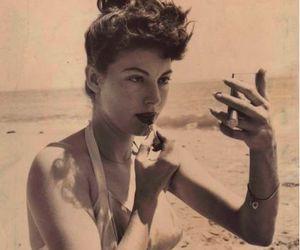 ava gardner, vintage, and beach image
