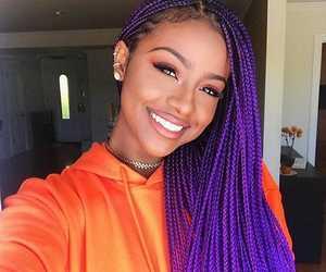 braid, purple, and justine skye image
