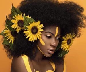 art, beautiful, and yellow image