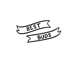 best buds, best friends, and overlay image