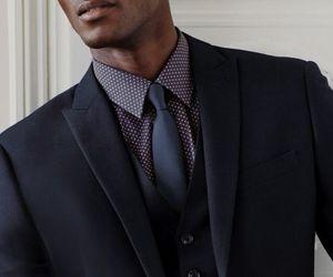 black, fashion, and tie image