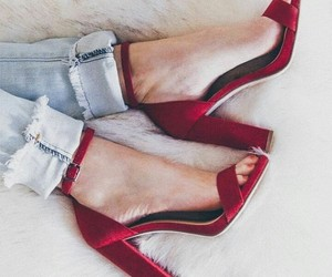 heels, nails, and jeans image