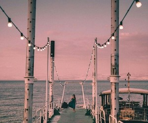 light, pink, and summer image
