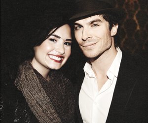 demi lovato, ian somerhalder, and manips image