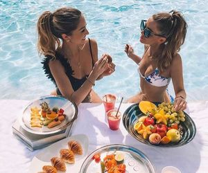 summer, food, and friends image