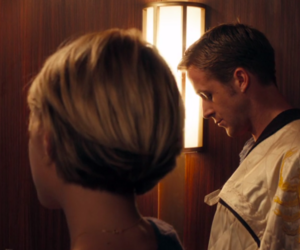 Carey Mulligan, ryan gosling, and screen image