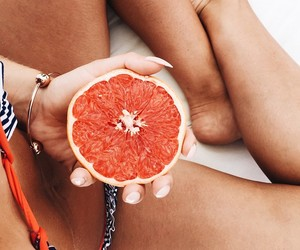 food, grapefruit, and fruit image