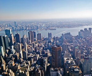 city, empire state building, and new york city image