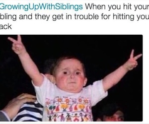 funny, siblings, and growing up image