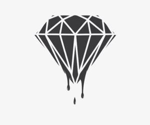 diamond, black, and wallpaper image