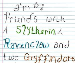 gryffindor, slytherin, and diversity image