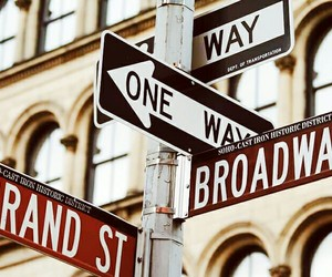 broadway, new york, and vibes image