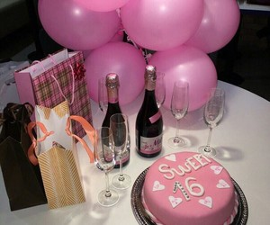 balloons, cake, and girly image